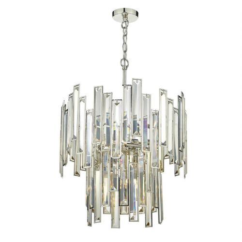Odile 6 Light 2 Tier Pendant Champagne Gold Crystal (Class 2 Double Insulated) BXODI0620-17